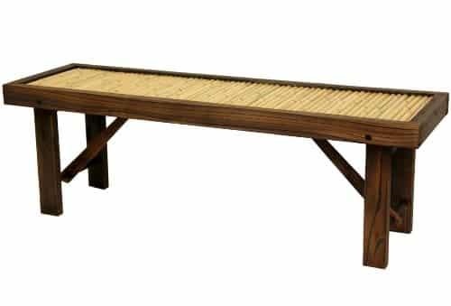 Japanese Bamboo Bench