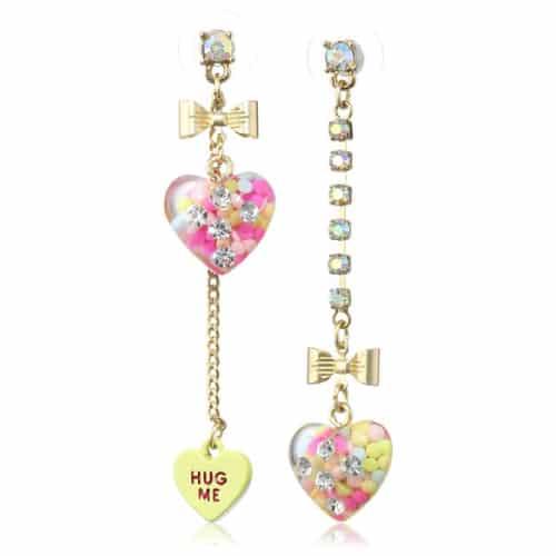 """Betsey Johnson """"Heart Candy Boost"""" Earrings"""