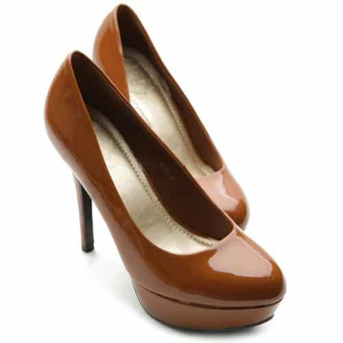 Ollio Women's High Heel Platform Pump