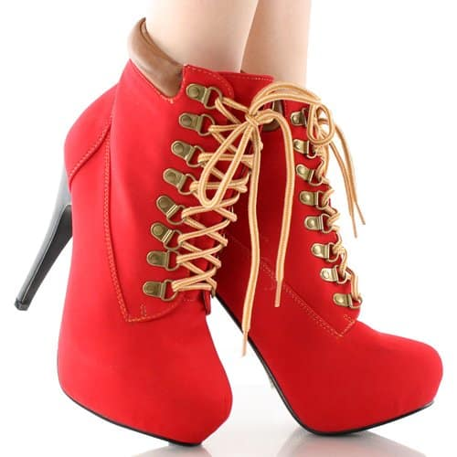 Red Bootie Boots