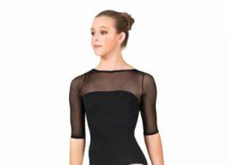 Natalie Dancewear Mesh Sleeve Leotard