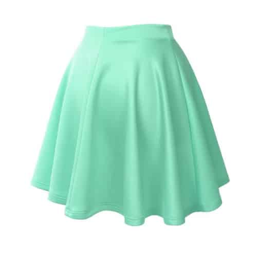LE3NO Basic Flare Skater Skirt