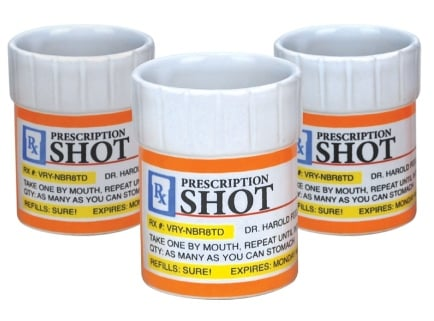 Big Mouth Toys Prescription Shot Glass Set