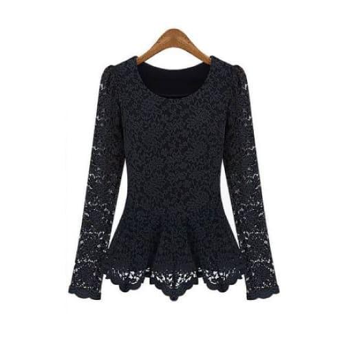 Aokin Women Scoop Neck Lace Tunics Top