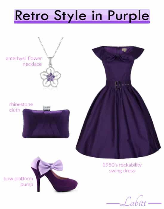 Retro Style in Purple