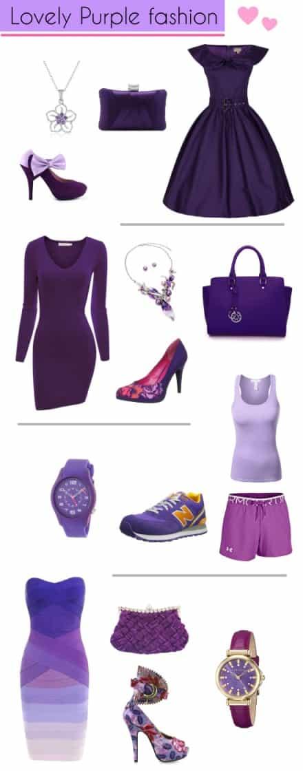 Purple Dress Fashion Style