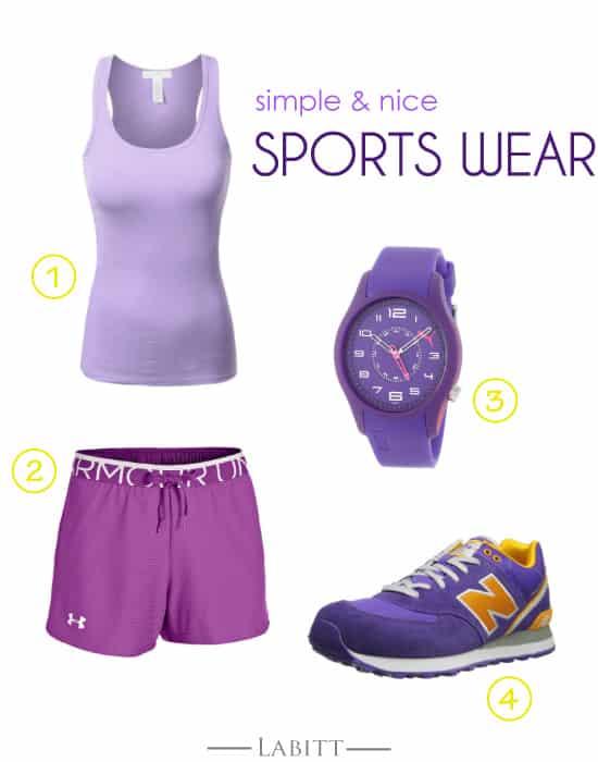 Purple Sports Wear