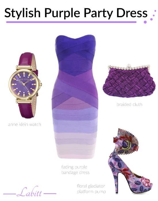 Stylish Purple Party Dress