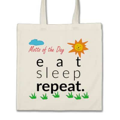 Eat Sleep Repeat Bag by Vivid_Ideas