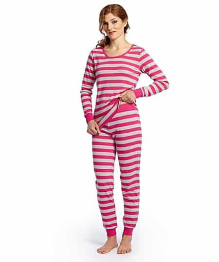 Leveret Women's Fitted Striped Pajama