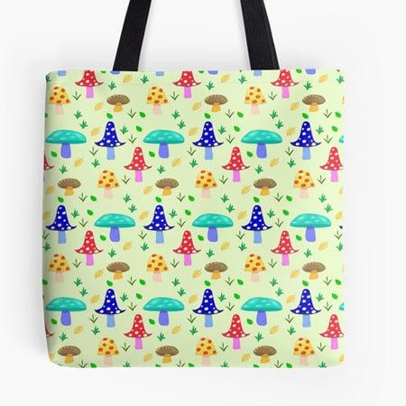 Mushroom Land Tote Bag