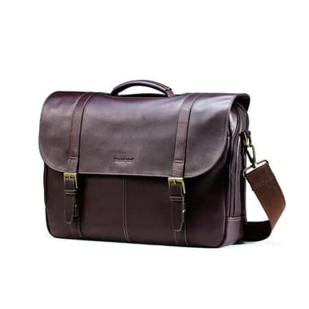Samsonite Colombian Leather Men's Bag Flapover Case