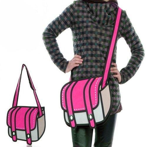 Cartoon 3D Messenger Bag