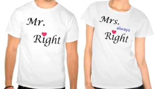 Mister Right and Mistress Always Right