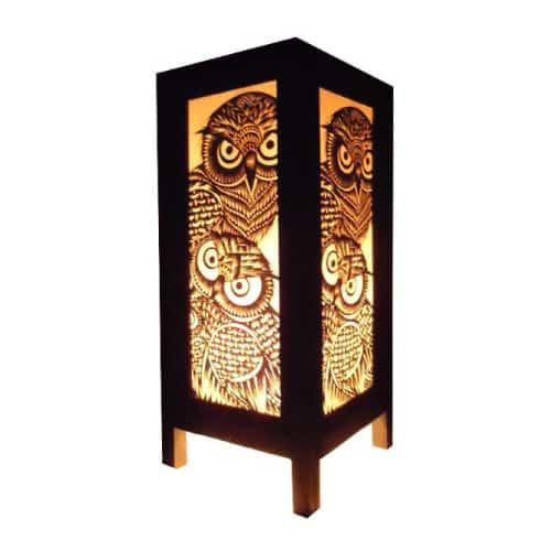 Thai Vintage Night Owl Paper Lamp