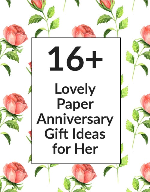 First Anniversary Gifts 15 Paper Gift Ideas For Husband Wife