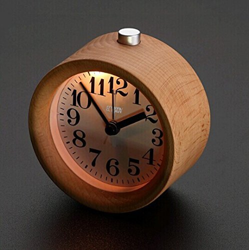 ECVISION Handmade Alarm Clock with nightlight