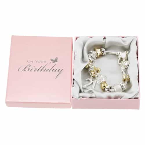 21st Birthday Charm Bracelet by Haysom Interiors