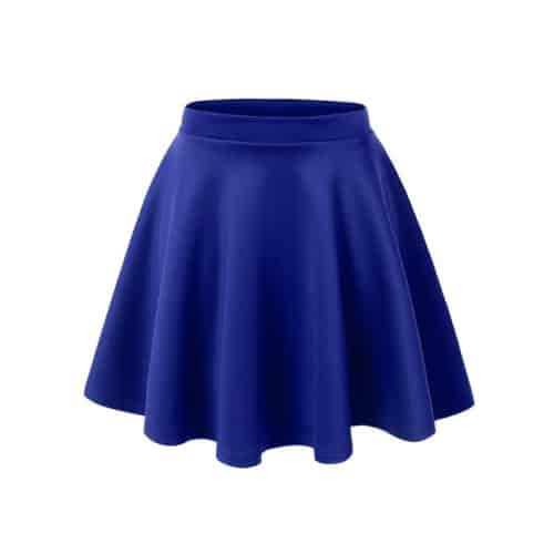 le3no womens basic flared skater skirt