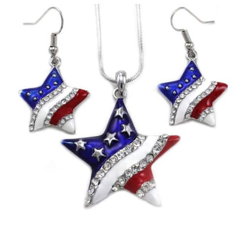 USA Independence Day Jewelry Set