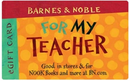 Barnes & Noble For Teacher Gift Card