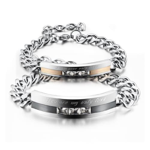 You Are My Only Love Bracelet for Two