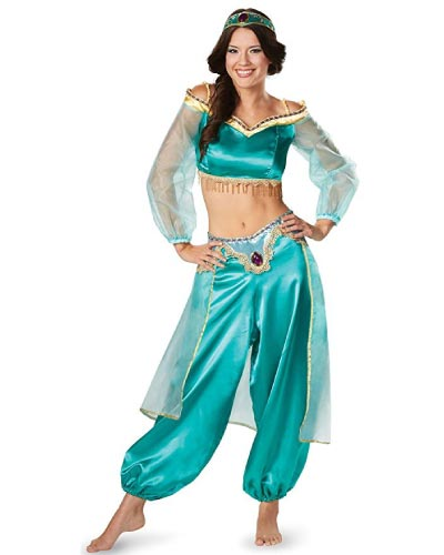 disney princess jasmine from aladdin teen halloween costume for girls