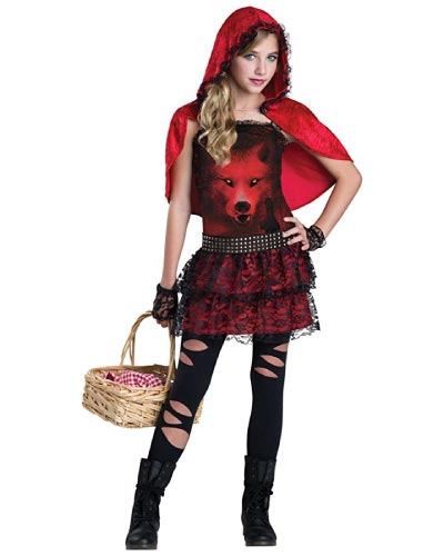 gothic red riding hood - halloween costume for teen girls
