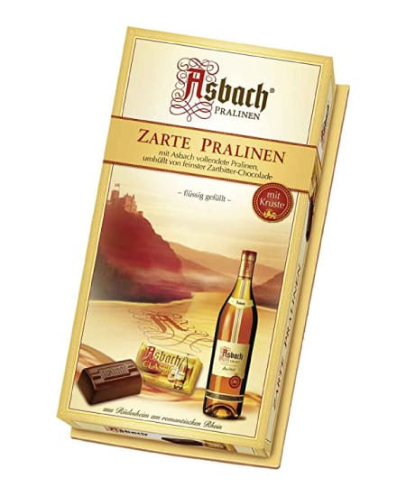 gift ideas for parents who have everything | asbach brandy filled chocolate beans