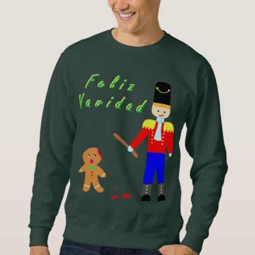 Feliz Navidad Gingerdead Man Sweater