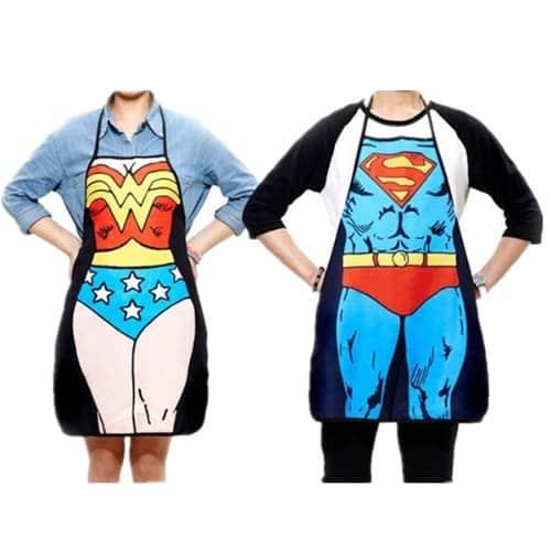 Superheroes Couple Apron