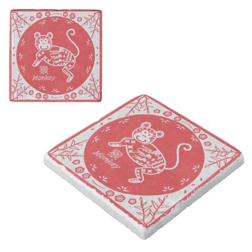 Chinese Zodiac Monkey Marble Coaster