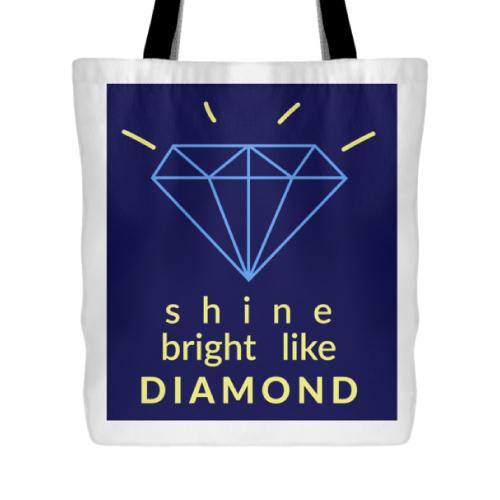 sweet 16 birthday gift ideas for teen girls - Shine Bright Like a Diamond Tote Bag