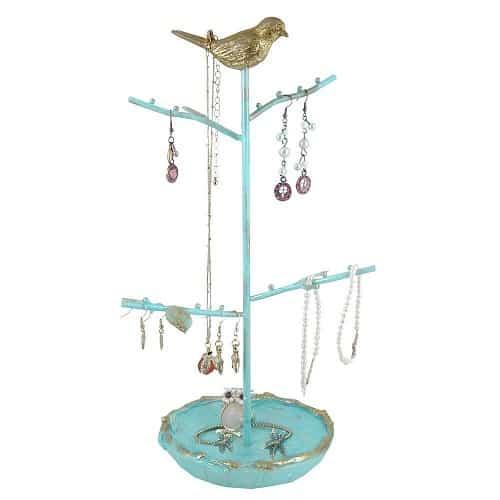 Vintage Gold Bird Jewelry Tree