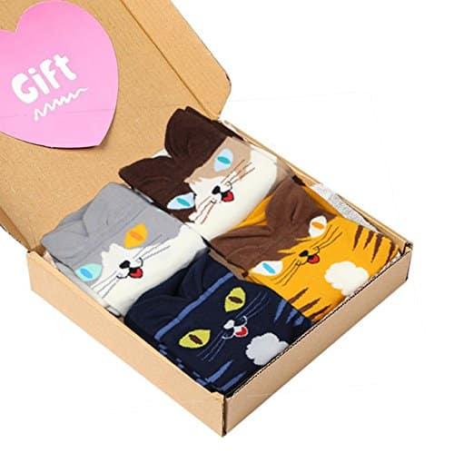 Cat Crew Pattern Cotton Socks