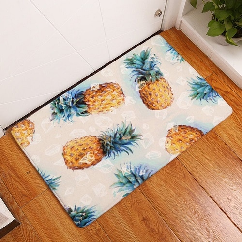 Pineapple Floor Mat. Dorm room ideas. Going to college gift ideas.