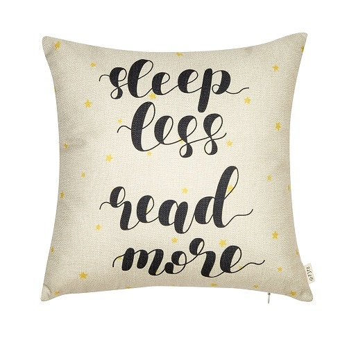 Sleep Less Read More Pillow. Dorm room decor. Going to college gift ideas