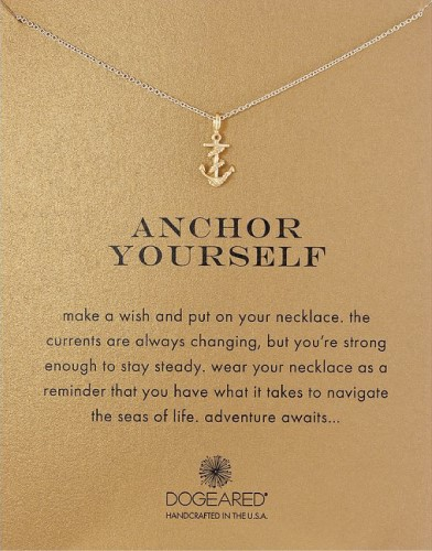 Dogeared Anchor Yourself Pendant Nautical Sea Necklace