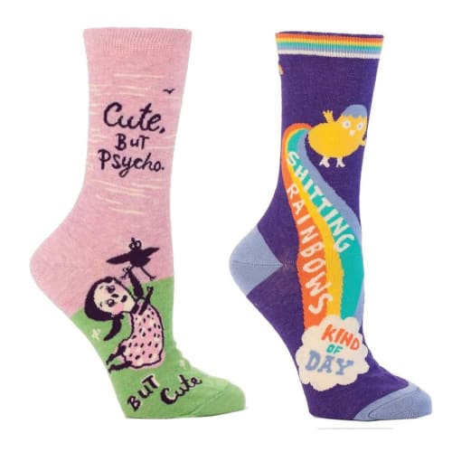 Cute socks with funny wordings. school supplies college list