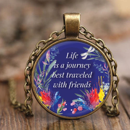 life is a journey pendant necklace