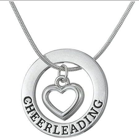 heart cheerleading pedant necklace - meaningful necklace for cheerleaders