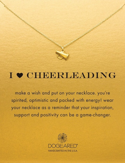 I Love Cheerleading cheerleader necklace