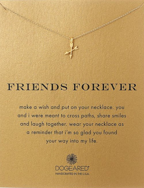 forever friends friendship pendant necklace