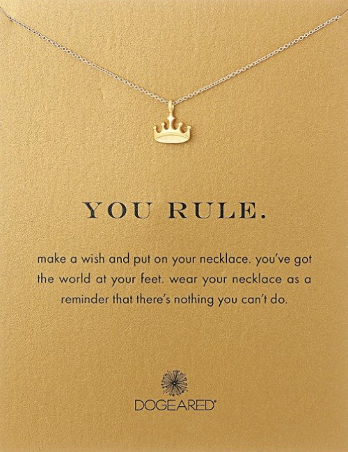 you rule motivational sassy necklace