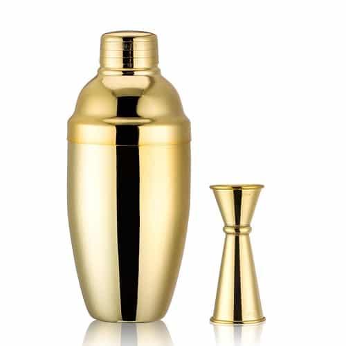 golden cocktail shaker set | hostess gifts