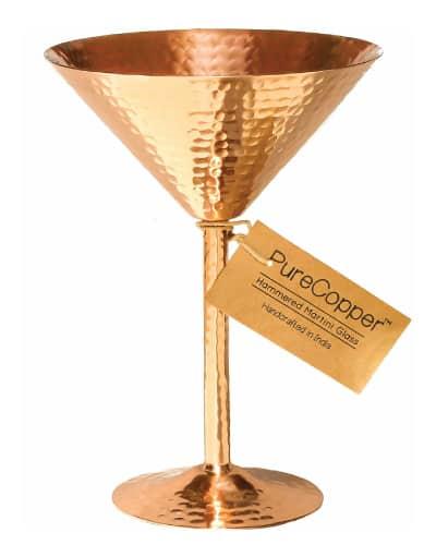 copper martini glass | hostess gifts