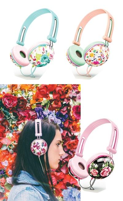 Ankit Pastel Floral Headphones