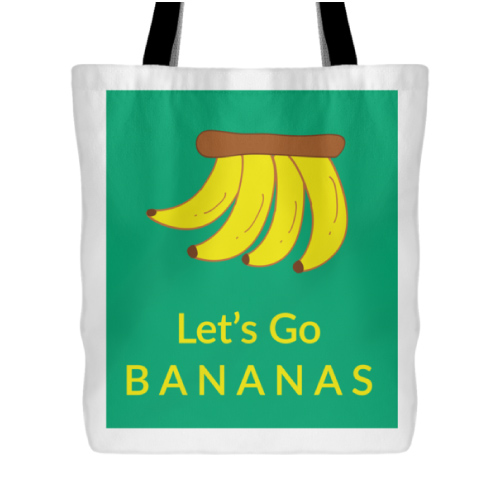 Lets go bananas tote bag