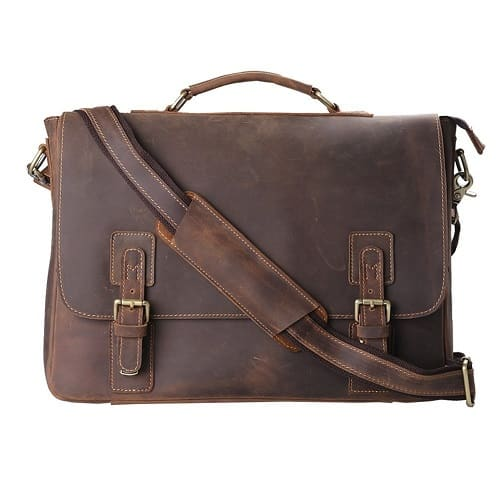 kattee leather messenger briefcase