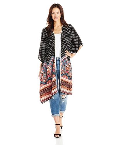 ella moon coralyn long border print kimono